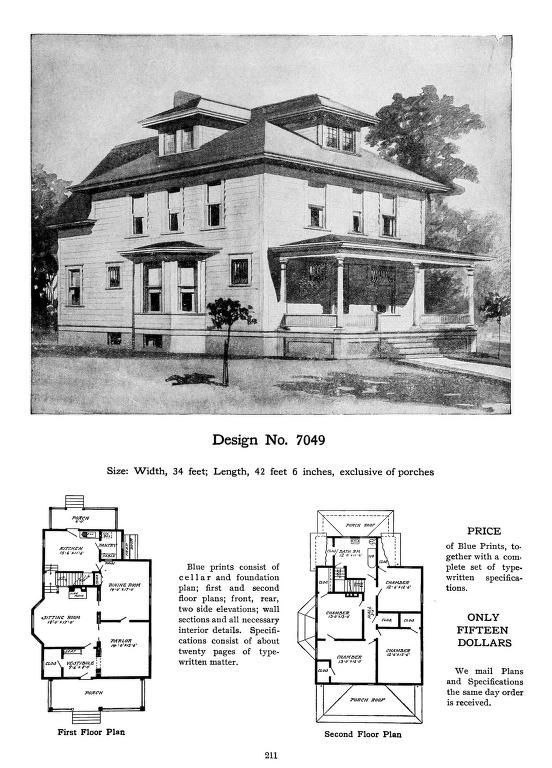 Craftsman bungalow house plans 1930s for 1930s house plans