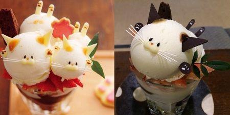 京都のブックカフェにある「猫パフェ」というスイーツメニューが可愛すぎると話題に - ネタりか