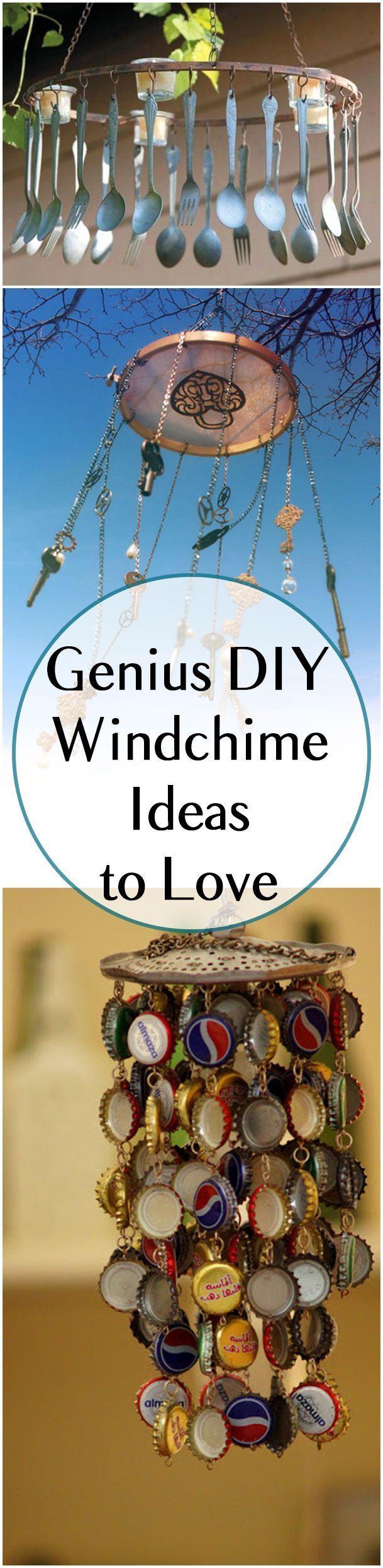DIY Wind Chime Idesa, Projects and Tutorials. Amazing designs that are super easy and cheap!