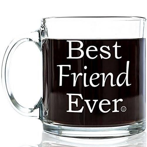 Gifts for best friend best friend ever glass coffee mug for Cool glass coffee mugs