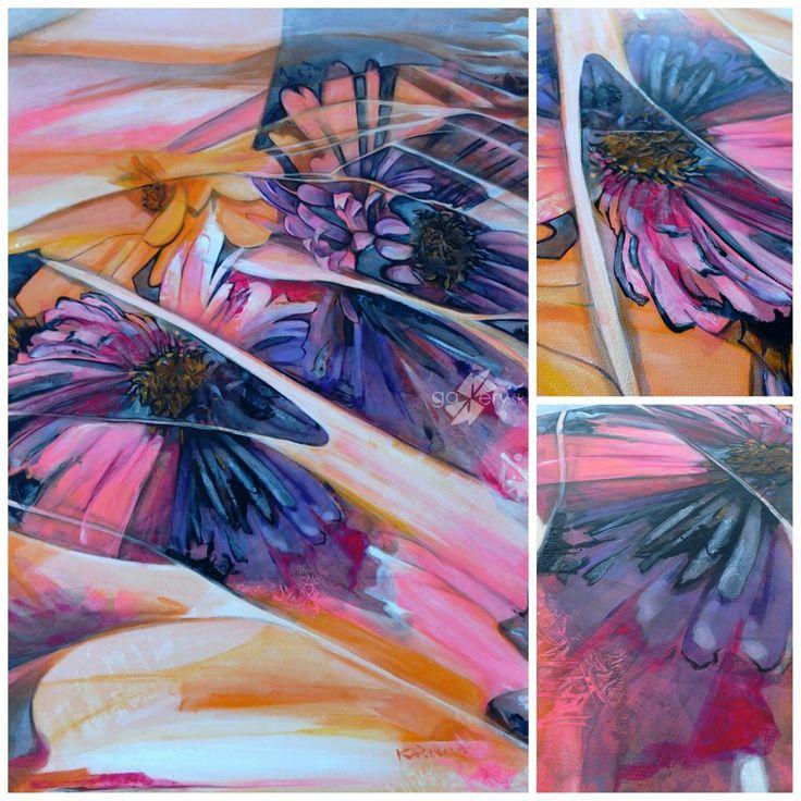 Flowering desert - acrylic painting on canvas.