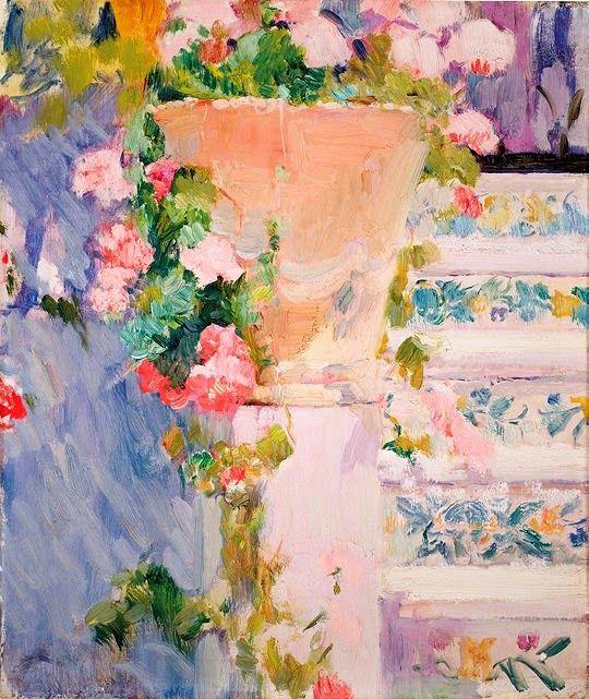 ❀ Blooming Brushwork ❀ - garden and still life flower paintings - Joaquin Sorolla y Bastida (1863 –1923)