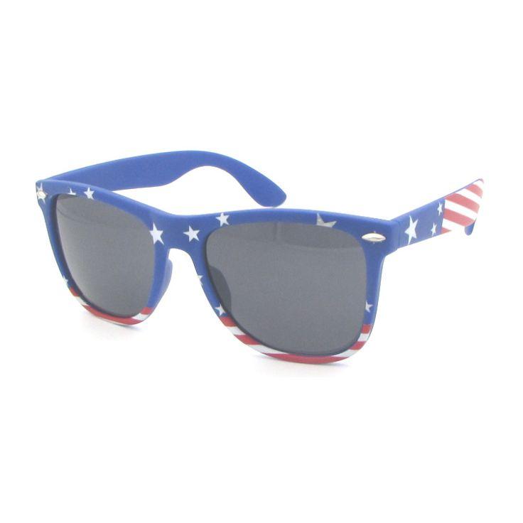 OEM logo printing sunglasses Hot sale promotional plastic american flag sunglasses Various flag sunglasses with UV400 lens