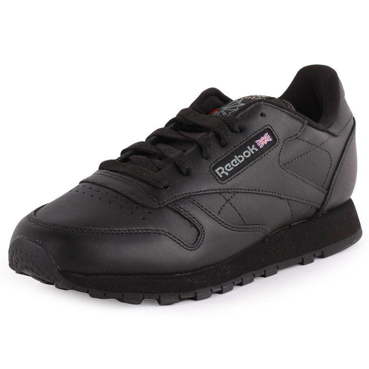 Original Reebok Classic Leather Trainers In Black