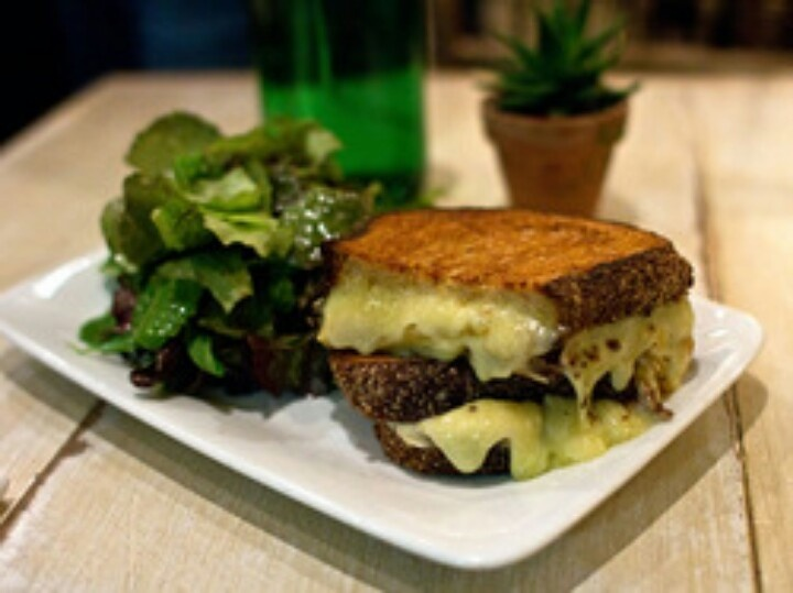 An amazing grilled cheese from The Green Tree in Chelsea markets