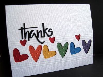 Hearts Abounding! - 3 cards.  Like embossing in negative space + Scor Pal use on this one.