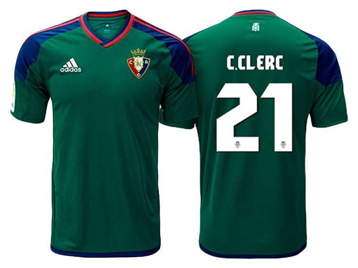CA Osasuna #21 Carlos Clerc 2016-17 Road Short Shirt