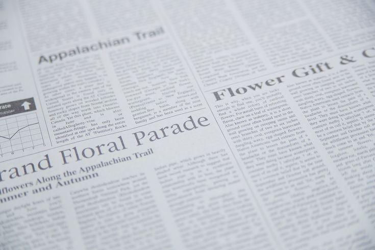 「英語の新聞英語の新聞」のフリー写真素材