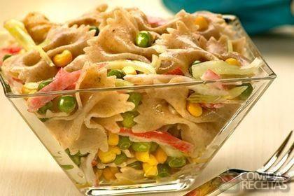 Receita de Salada de macarrão integral diferente em receitas de saladas, veja essa e outras receitas aqui!