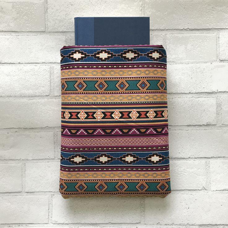 Geometric Tribal Southwestern book sleeve, book inspiration, books, bookworm, book pocket, book protector, bookstagram, am reading, reading, h https://www.etsy.com/listing/527141987/book-sleeve-geometric-print-book-pocket