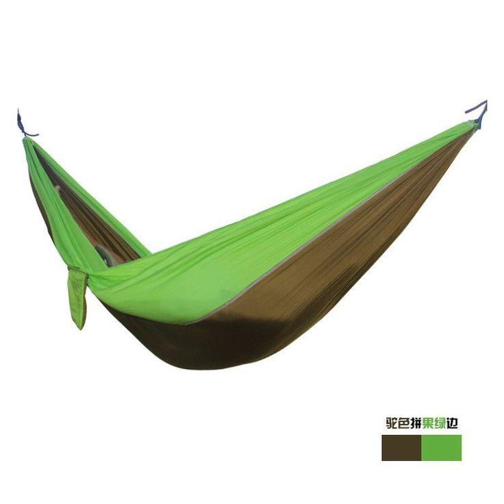 2 people camping Hammock parachute cloth outdoor survival hammock bearing 200KG garden hamak camping equipment 20 colors