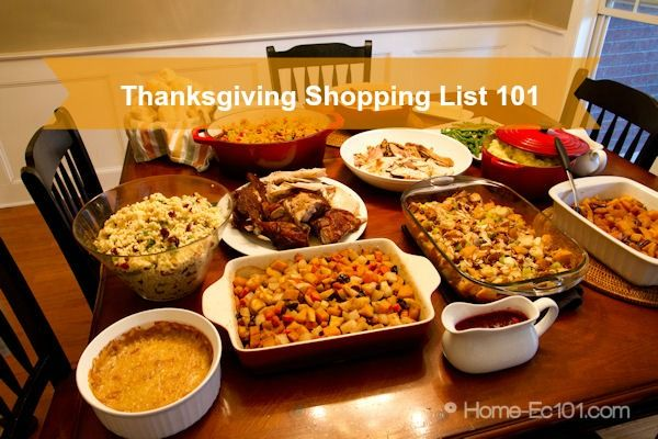 How to create your Thanksgiving Shopping list #typeaparent