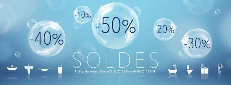 #soldes #planetebain #salledebain Les soldes sont arrivées chez Planetebain.com, de -10% à -50% les bonnes affaires sont là !