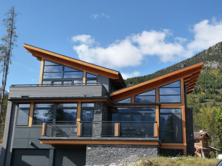 Butterfly Roof Exterior Rustic With Wood Siding