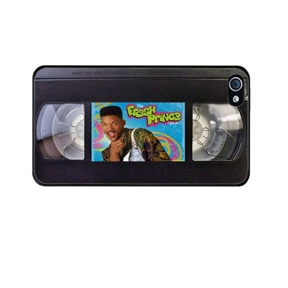 Fresh Prince of Bel Air Video Tape Case For iPhone 5, iPhone 5s, iPhone 5c, iPhone 4, iPhone 4s, Galaxy S3, Galaxy S4 Hipster Case Cassette on Etsy, $13.99