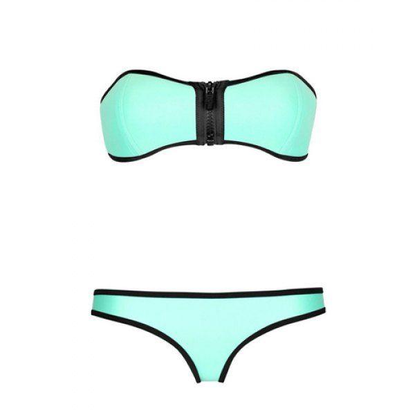 Color Block Zipper Bikini | Summer Fun