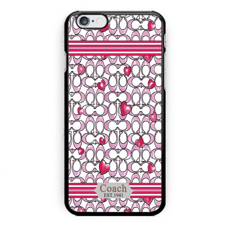 New COACH Fashion Case Love Pink Custom Print on iPhone /5/5a/6/6s/6plus/7/7plus