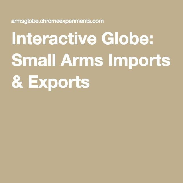 Interactive Globe: Small Arms Imports & Exports