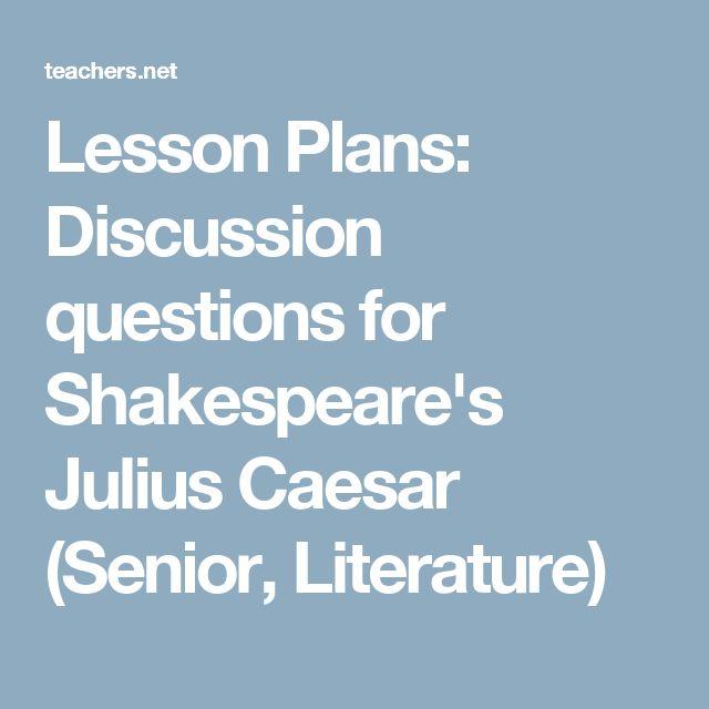 possible essay questions for julius caesar