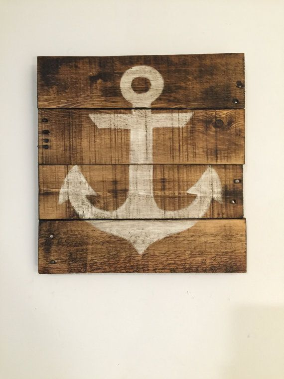 Anchor Sign / Nautical Decor / Wood Anchor Sign by PalletsandPaint