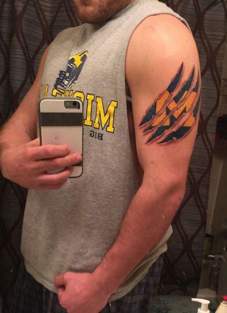 Michigan Wolverines Tattoos