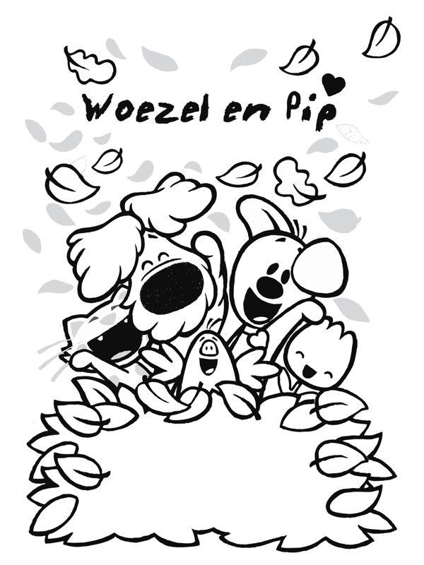 Kleurplaat Woezel en Pip - Kleurplaten.nl