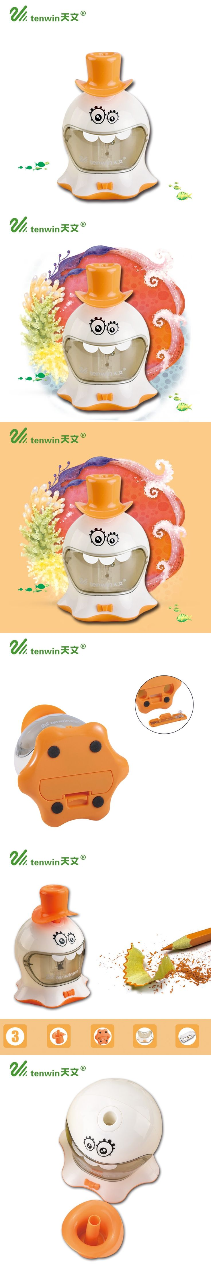 Electric Pencil Sharpener One Hole Cute Electric Pencil Sharpener Apply To Pencil Of 6-8mm