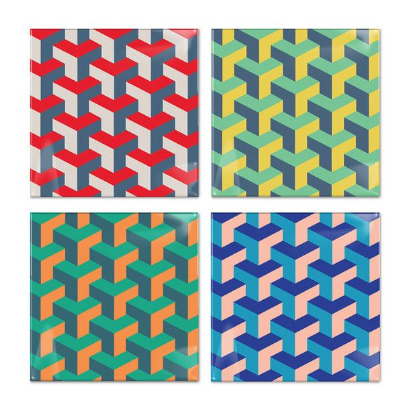 The Best Holiday Gifts of 2015—Birch Coasters Y Pattern by Post Studio: $30/set of 4; Fab.com.