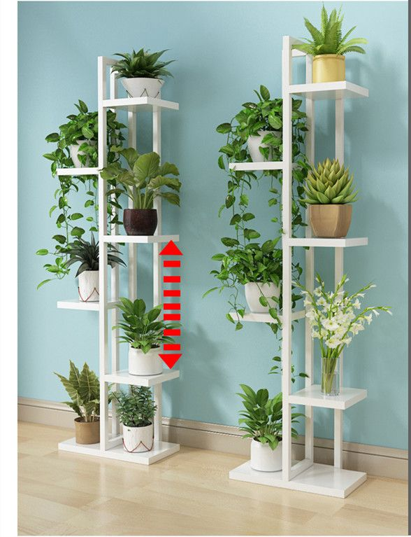 6 Ties Portable Green Plant Flower Pot Shelf House Plants Decor Plant Decor Indoor Plant Stand Indoor