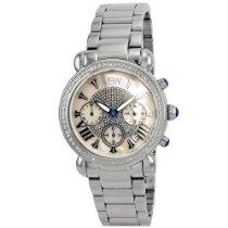"JBW-Just Bling Women's JB-6210-D ""Victory"" Pearl Stainless Steel Diamond Watch"