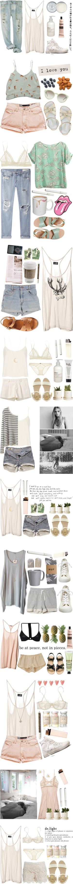Clothes Casual Outift for • teens • movies • girls • women •. summer • fall • spring • winter • outfit ideas • dates • parties Polyvore :) Catalina Christiano Love.