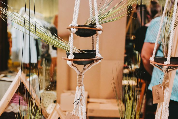 Beautiful hanging planter at the Austin Spring Market. #RenegadeAustin #RenegadeCraftFair
