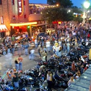 Rot Rally Biker Festival.....Harley's everywhere.  I love it!  Most Austinites hate this festival but I happen to love it.