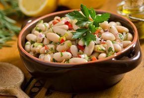 Alubias a la vinagreta. Esta #receta de ensalada es súper fresquita y muy fácil de preparar.
