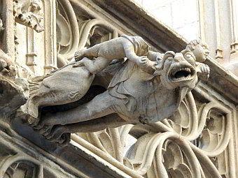 Gargoles del barri gotic de Barcelona