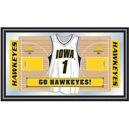 University of Iowa Basketball Framed Jersey Mirror, Black