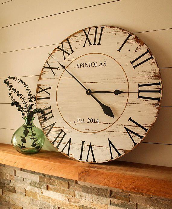 Large Custom Rustic Farmhouse Reclaimed Pallet Wood Clock ...
