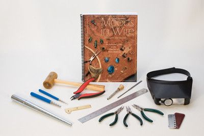 Excellent companion to our wire wrapping books. Everything you need to get started. Also makes a great gift combined with any of our wire wrapping books. Kit includes: - Round nose lap-joint pliers -