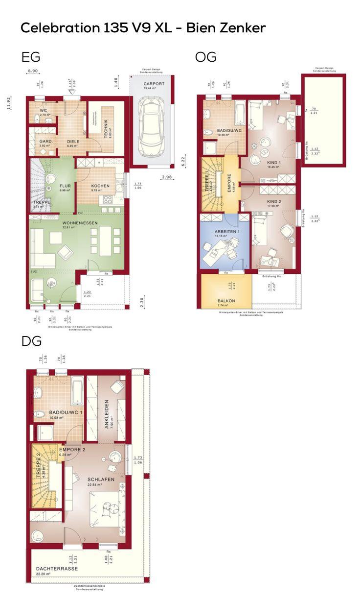 20 besten grundriss doppelhaush lfte bilder auf pinterest. Black Bedroom Furniture Sets. Home Design Ideas