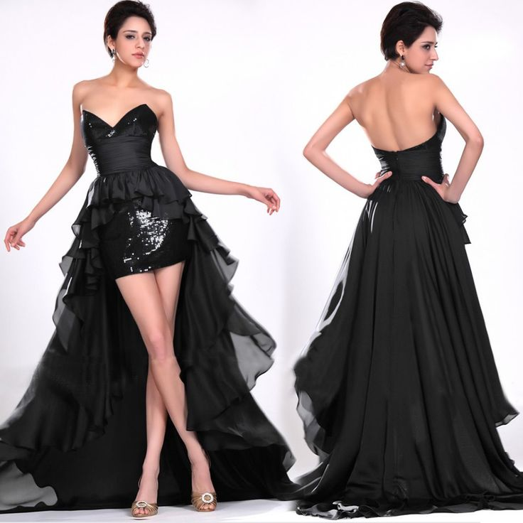 Black And White Masquerade Dresses Black Evening Dress ...