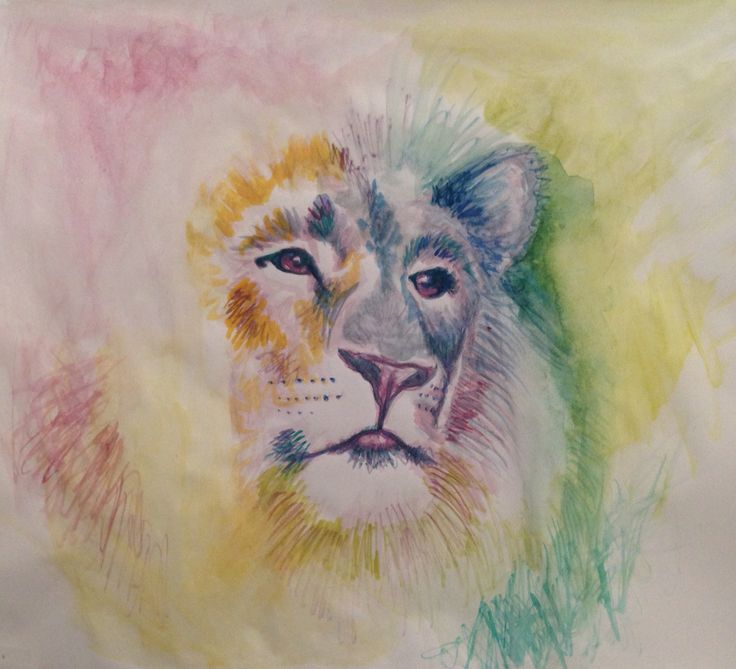 Par Marythée Daigle : #sketch #art #illustration #lion #watercolor #aquarelle #dessin #drawing