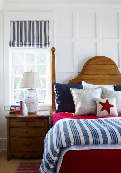 Not usually a fan of red,white and blue as a decorating scheme - but this could change my mind.