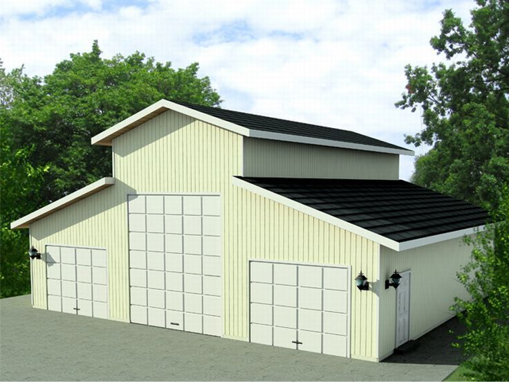 52 best garage plans with boat storage images on pinterest for Garage plans with boat storage