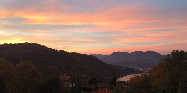 Lake Maggiore at sunset; as seen from one of our properties - http://www.bookingsforyou.com/holiday-rentals-italy/lake-como-accommodation,-lake-maggiore-accommodation/italian-lakes-4-bedroom-villa-with-pool/
