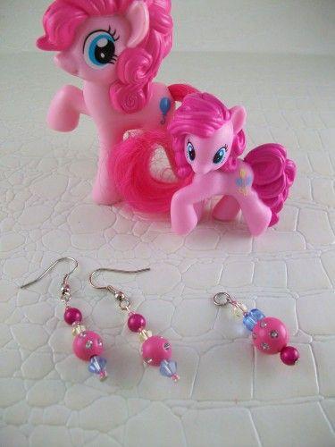 Pinkie Pie Cosplay Earrings My Little Pony Friendship is Magic | SGalindoDesign - Jewelry on ArtFire
