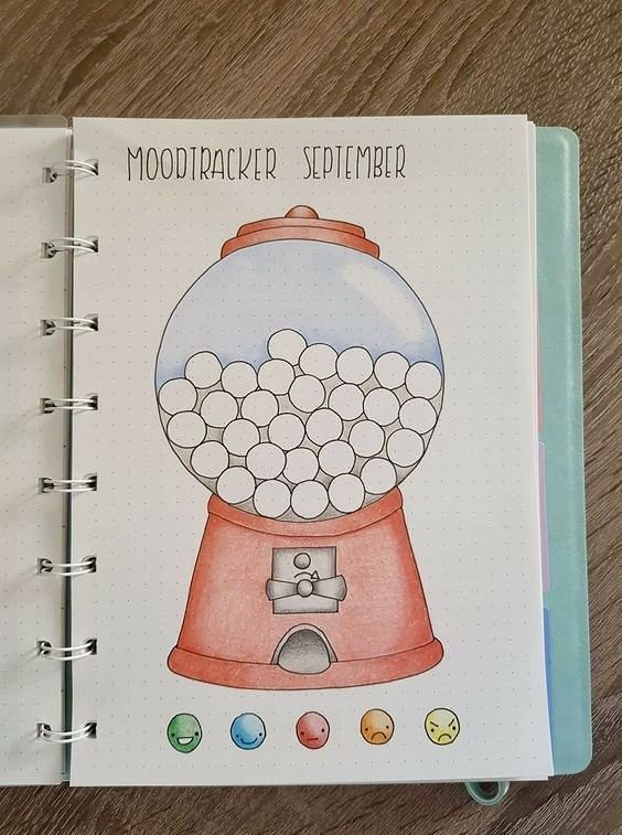 I'm not interested in a mood tracker, but maybe I can think of another use. #diarytips