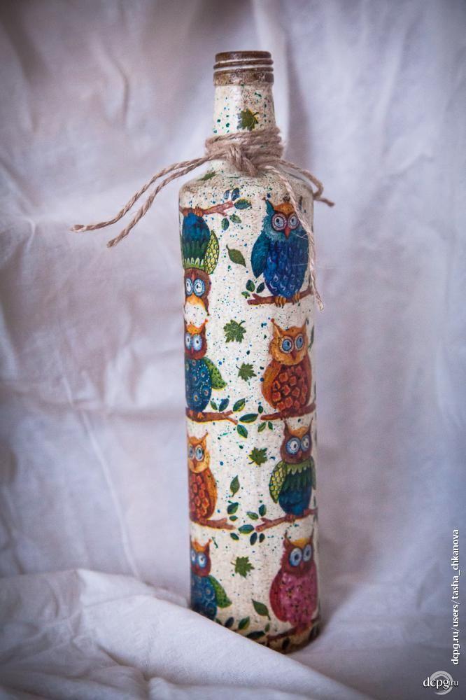 Декупаж - Сайт любителей декупажа - DCPG.RU | Декупажная эстафета Click on photo to see more! Нажмите на фото чтобы увидеть больше! decoupage art craft handmade home decor DIY do it yourself bottle