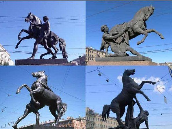история коней на Аничковом мосту СПб