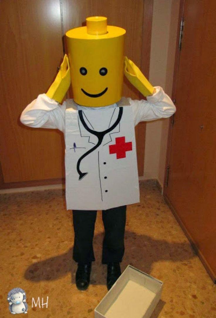 Disfraz de Lego Médico, cabeza