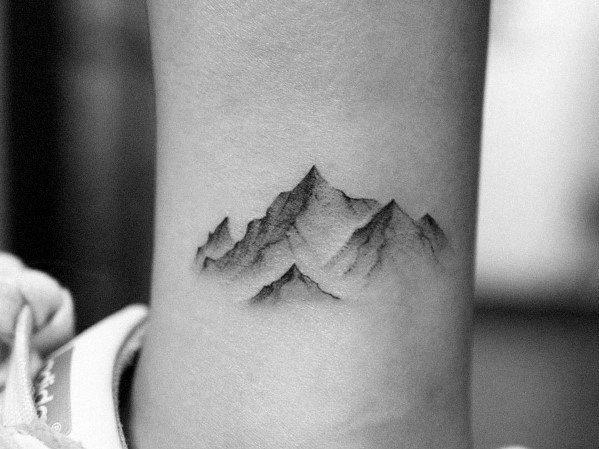 50 Minimalist Mountain Tattoo Ideas For Men – Outdoor Landscape Designs